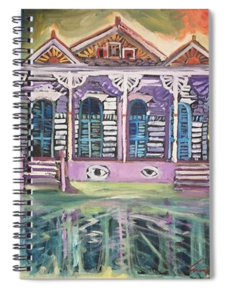 Tryptic On The Bayou New Orleans Spiral Notebook