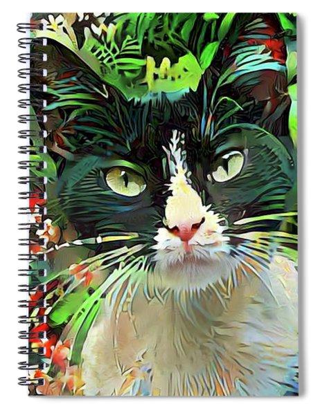 Tucker The Tuxedo Cat Spiral Notebook