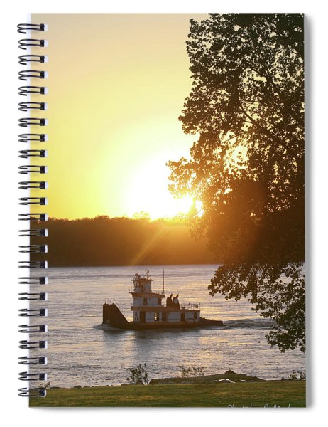 Tugboat On Mississippi River Spiral Notebook