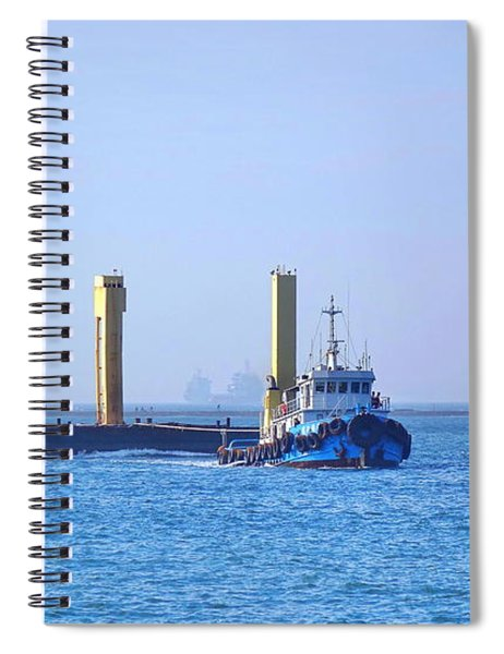 Tugboat Pulls Large Load Into Kaohsiung Port Spiral Notebook