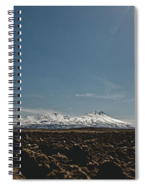 Turkish Landscapes With Snowy Mountains In The Background Spiral Notebook