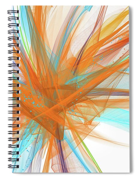 Turquoise And Orange Art Spiral Notebook