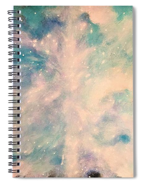 Turquoise Cosmic Cloud Spiral Notebook