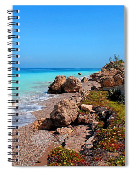 Turquoise Sea And Azure Sky Spiral Notebook