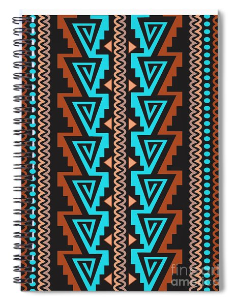 Turquoise Triangle Pattern Spiral Notebook