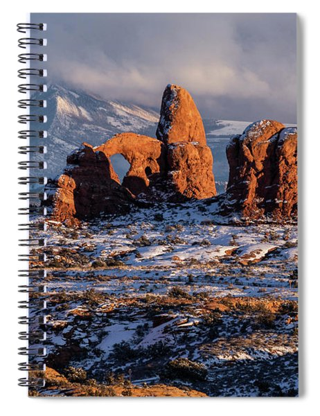 Turret Arch Winter Sunset Spiral Notebook
