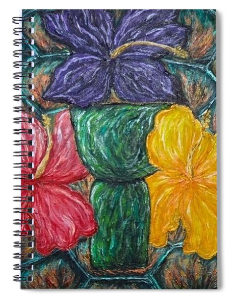 Turtle Latte Stone Hibiscus Spiral Notebook