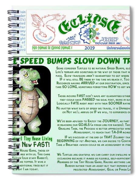 Turtle Speed Bumps Spiral Notebook