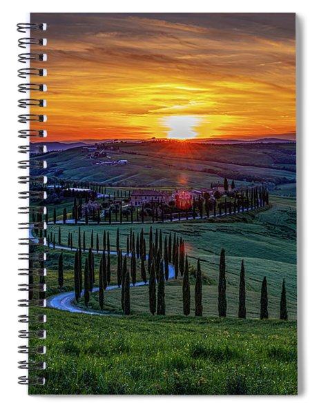 Tuscan Sunset Spiral Notebook