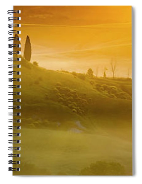 Tuscany In Gold Spiral Notebook