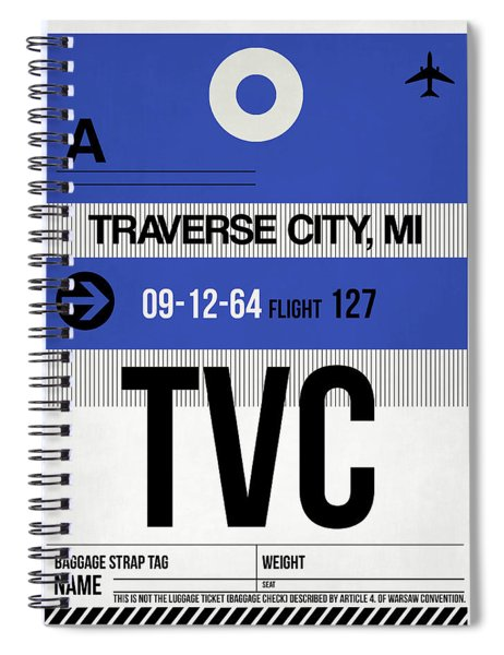 Tvc Traverse City Luggage Tag I Spiral Notebook