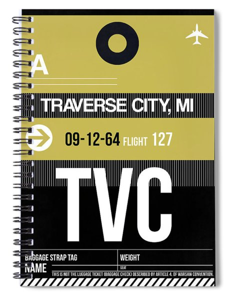 Tvc Traverse City Luggage Tag II Spiral Notebook