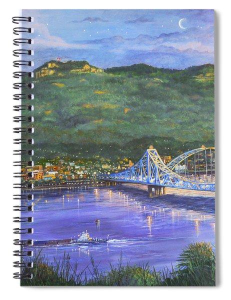 Twilight At Blue Bridges Spiral Notebook