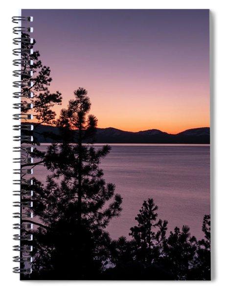 Twilight At Lake Tahoe Spiral Notebook