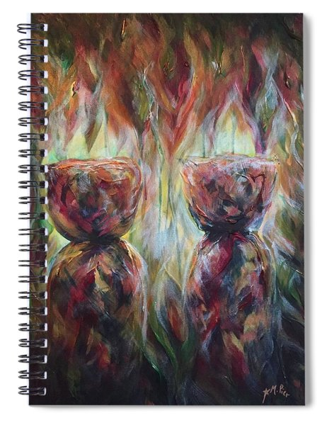 Twin Latte Stones Spiral Notebook