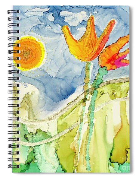 Twin Tulips Spiral Notebook