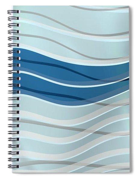 Two Blue Waves Even Spiral Notebook