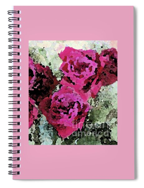 Two Deep Pink Roses Together Spiral Notebook