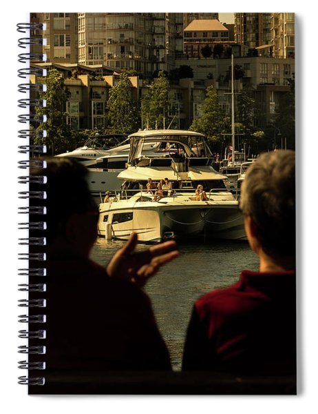 Two Friends At The Vancouver Bay Spiral Notebook