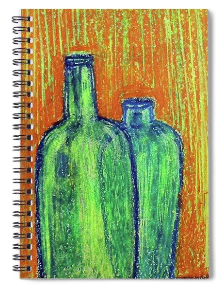 Two Green Bottles Spiral Notebook