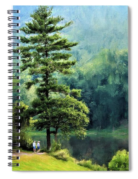 Two Guys And A Pond Spiral Notebook