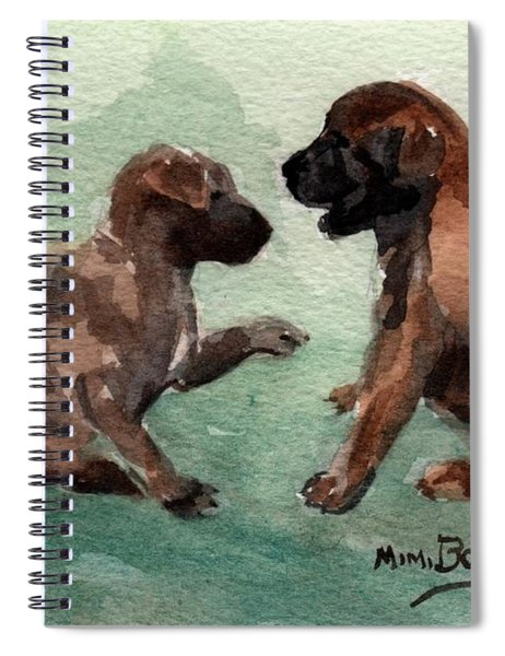 Two Malinois Puppies Spiral Notebook