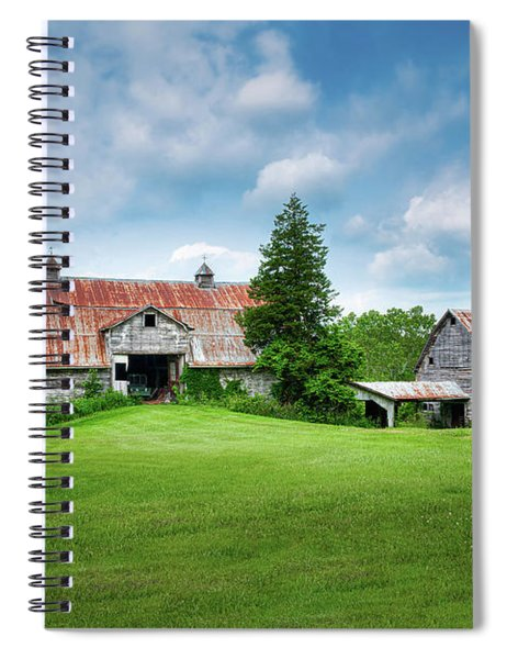 Two Old Barns Spiral Notebook