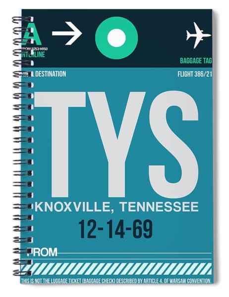 Tys Knoxville Luggage Tag II Spiral Notebook