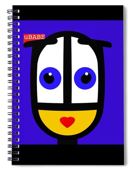 Ubabe Blue Spiral Notebook