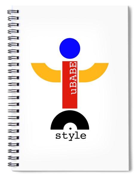 uBABE Dude Spiral Notebook