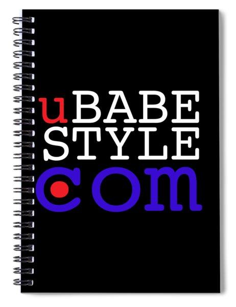 Ubabe Style Dot Com Spiral Notebook