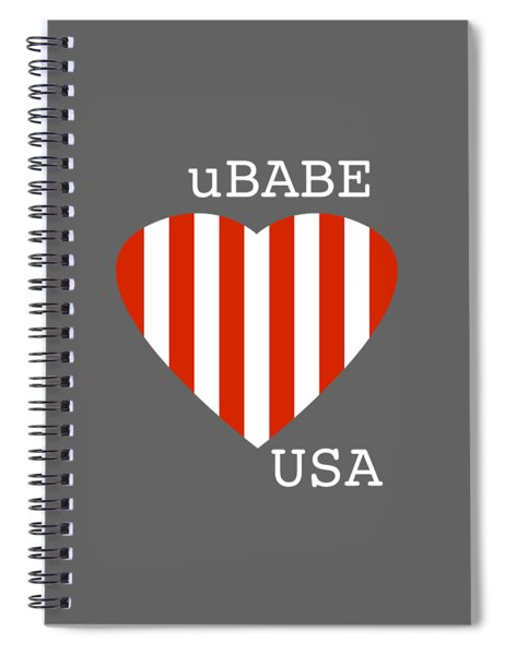 uBABE USA Spiral Notebook