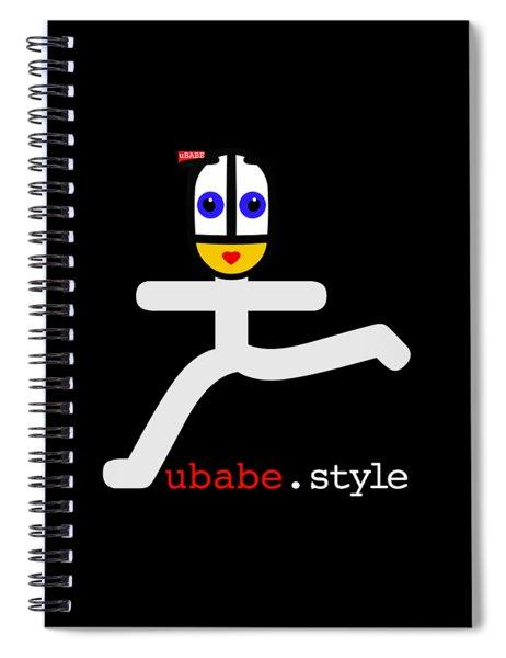 Ubae Style Runner Spiral Notebook