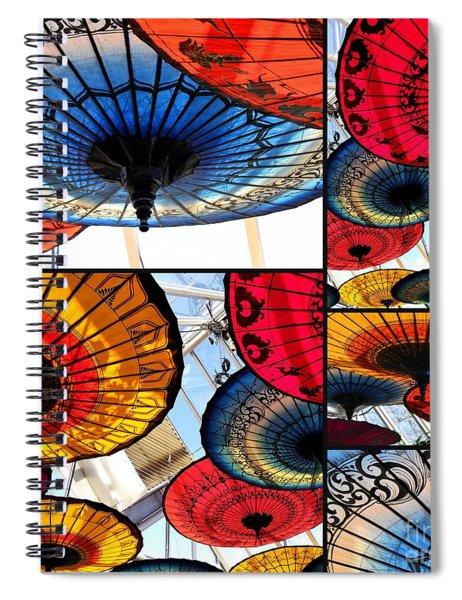 Umbrella Collage Spiral Notebook