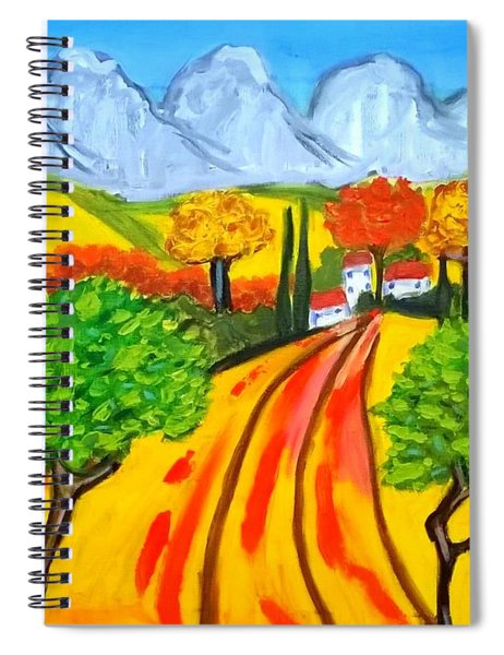 Un Champs Pres De St Remy De Provence Spiral Notebook