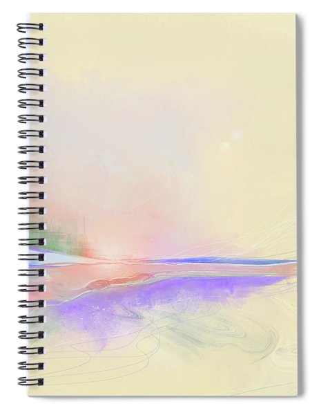 Spiral Notebook featuring the digital art Unconventional by Gina Harrison