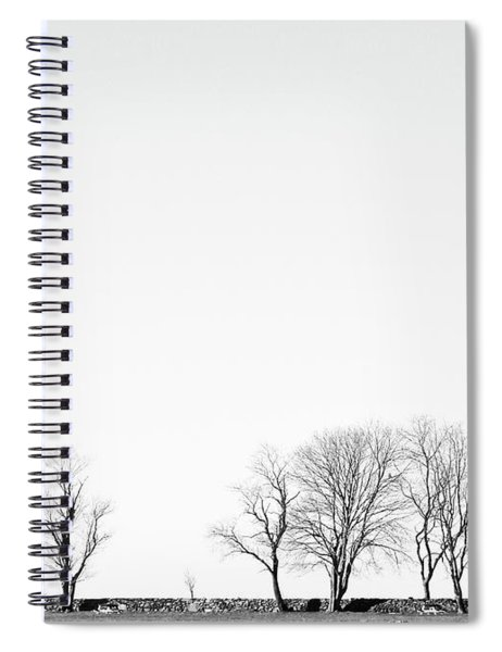 Under A Winter Sky Spiral Notebook