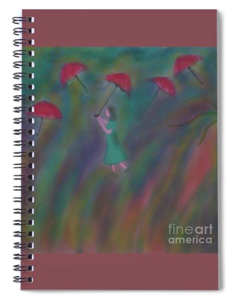 Under My Umbrella Spiral Notebook