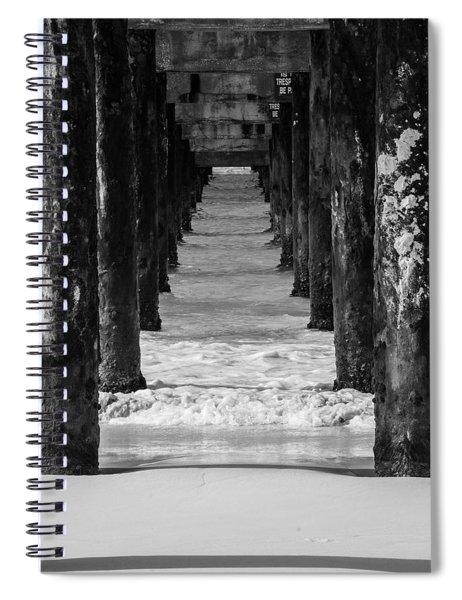 Under The Pier #2 Bw Spiral Notebook