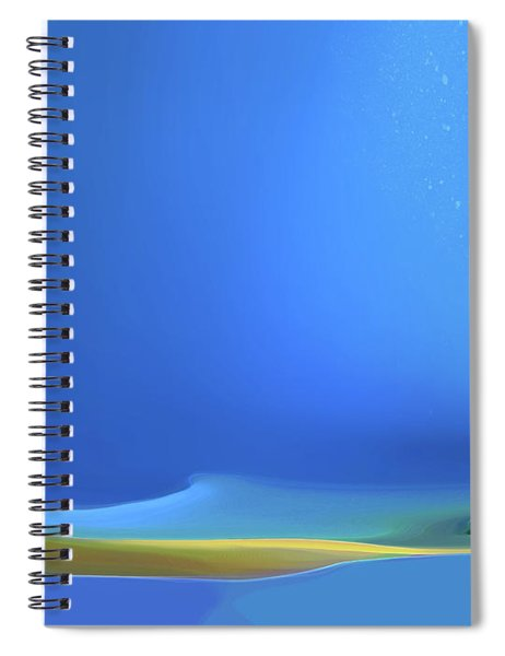 Spiral Notebook featuring the digital art Undercurrents by Gina Harrison