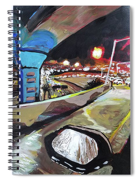 Underpass At Nighht Spiral Notebook