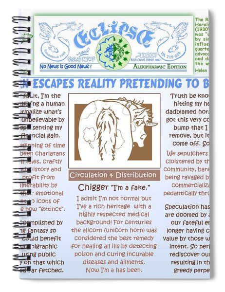 Unicorn Escapes Reality Spiral Notebook