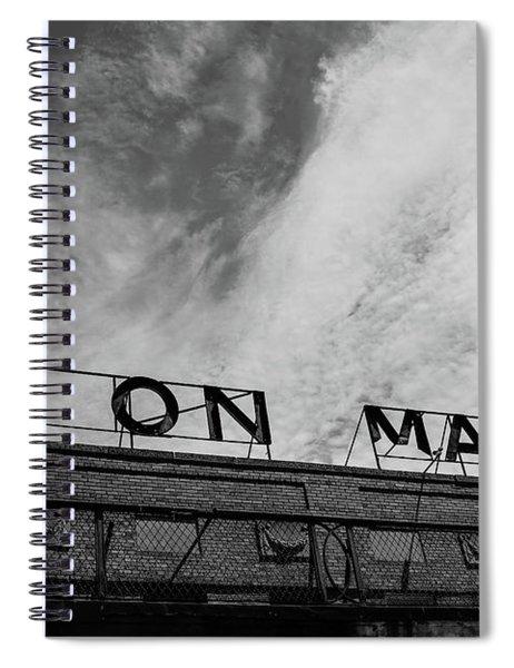 Union Market The Original Sign Washington Dc Spiral Notebook by Edward Fielding