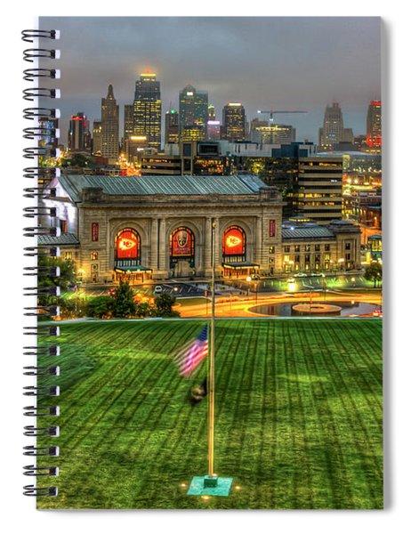 Union Station Sunrise Kansas City Missouri Art  Spiral Notebook