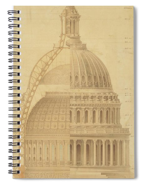 United States Capitol, Section Of Dome, 1855 Spiral Notebook
