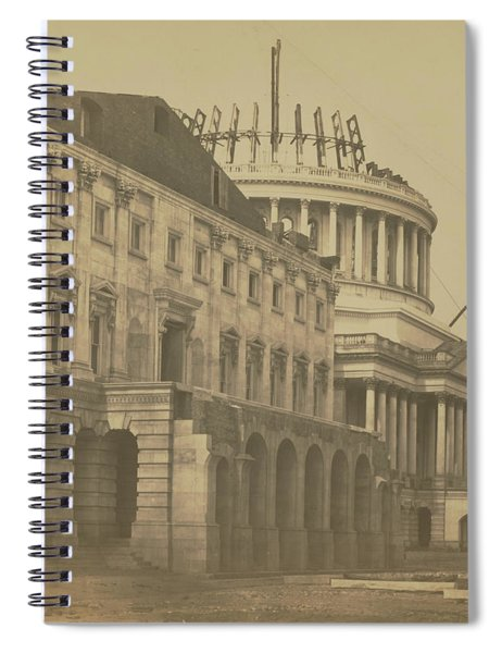 United States Capitol Under Construction Spiral Notebook