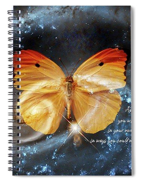 Universal Butterfly Spiral Notebook