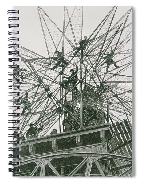 Universal Exposition Of 1900, Installation Of The Star On Top Of The Palace Of Electricity  Spiral Notebook
