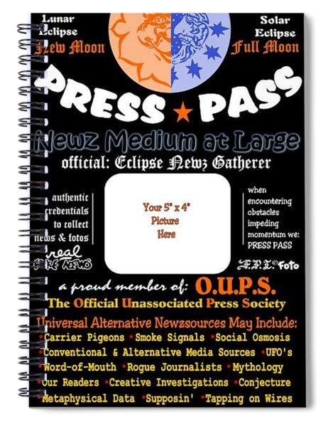 Universal Press Pass Spiral Notebook