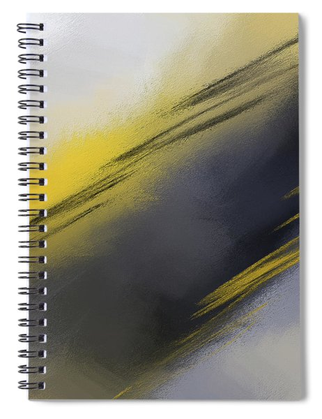 Unplanned - Yellow And Abstract Art Spiral Notebook